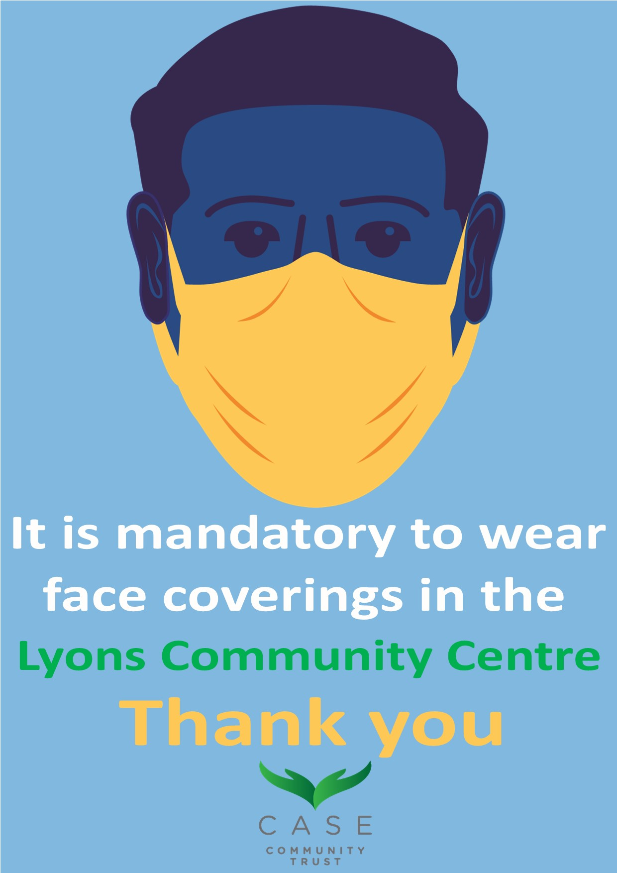 Face Covering at LCC Poster