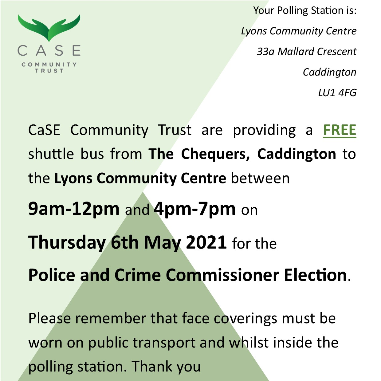 Polling Station Shuttle Bus Poster