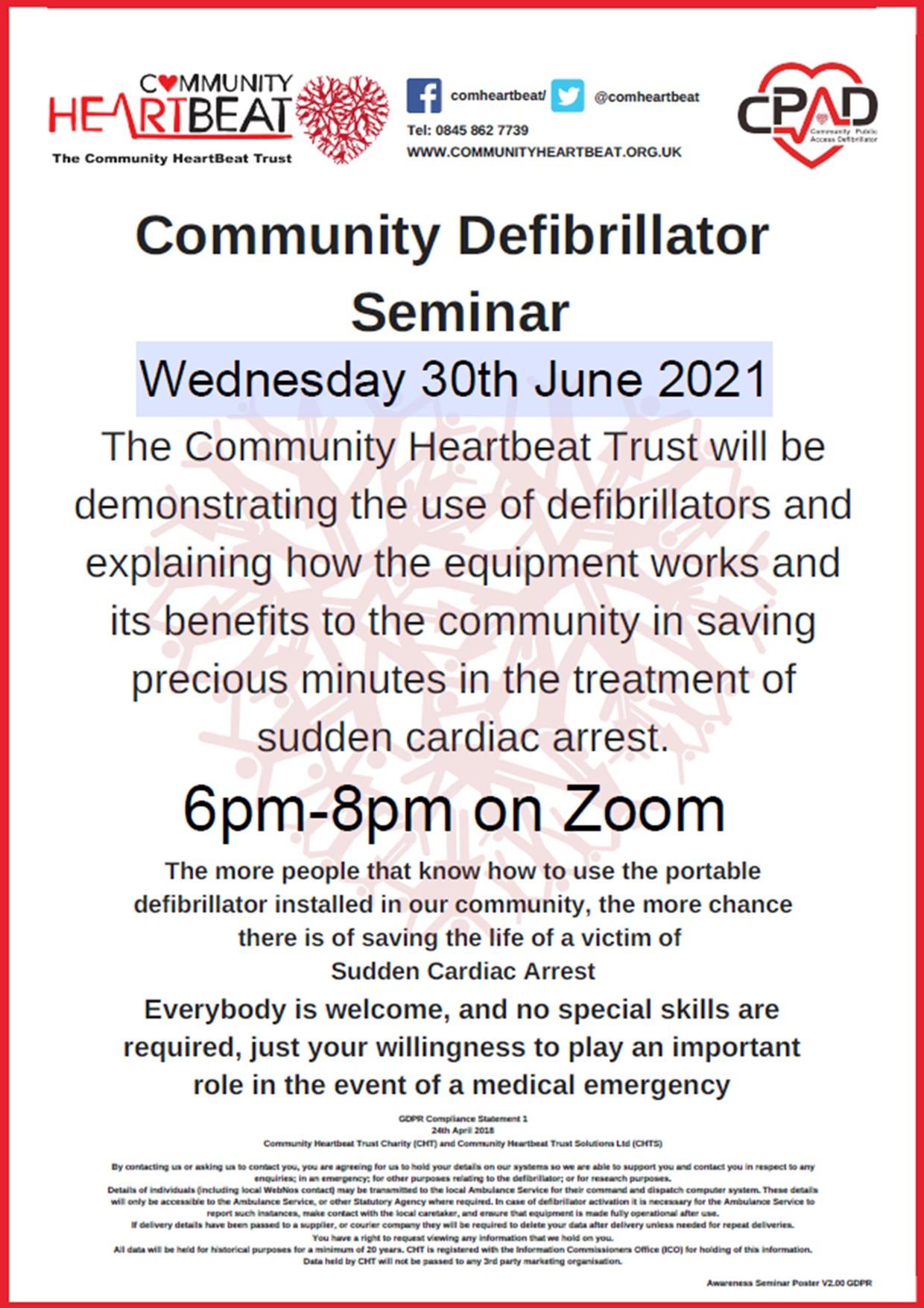 Defibrillator Awareness Course